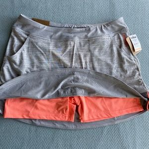 REEBOK NEW Gray- Melon Slim Tennis Golf Skort Sz M